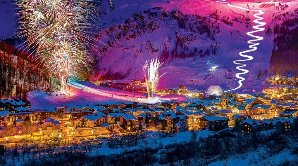 new year ski resort Val d'Isere